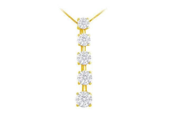 Diamond Journey Pendant  14K Yellow Gold - 2.00 CT Diamonds