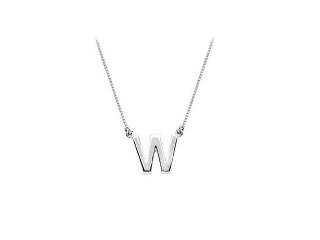 Baby Charm Initial Pendant W 14K White Gold
