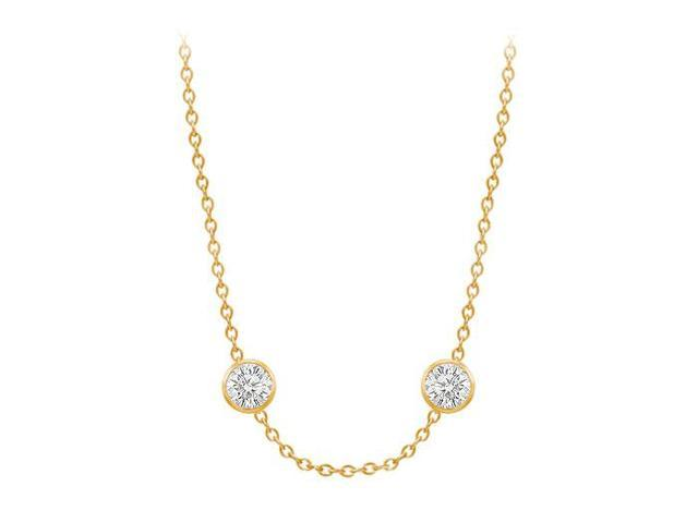 Diamonds By The Yard Necklace in 14K Yellow Gold Bezel Set 0.66 ct.tw