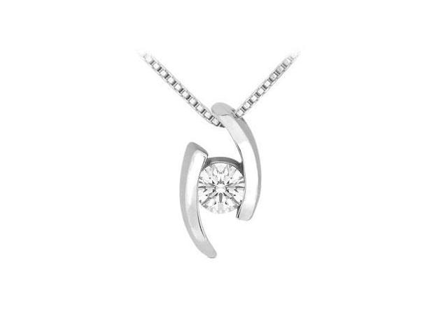 Diamond Pendant  14K White Gold - 0.25 CT Diamonds