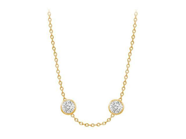 Diamonds By The Yard Necklace in 14K Yellow Gold Bezel Set 1.00 ct.tw