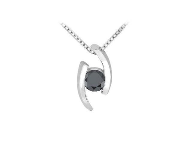 Black Diamond Pendant  14K White Gold - 0.25 CT Diamonds