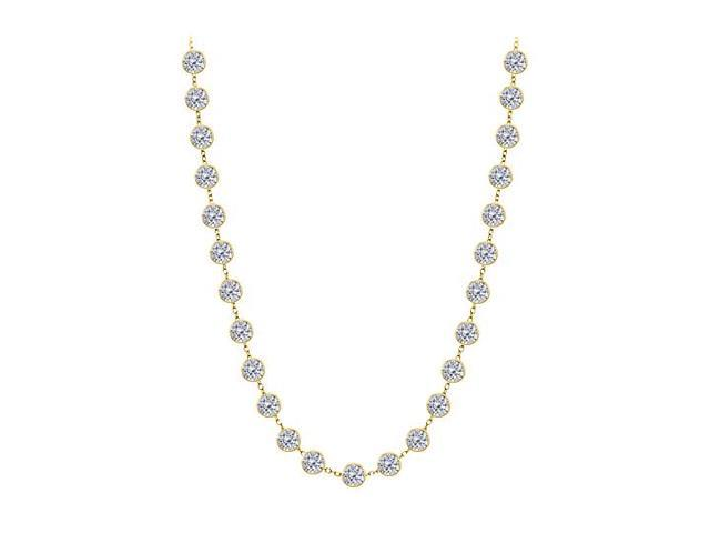 Diamonds By The Yard Necklace in 14K Yellow Gold Bezel Set 4 ct.tw