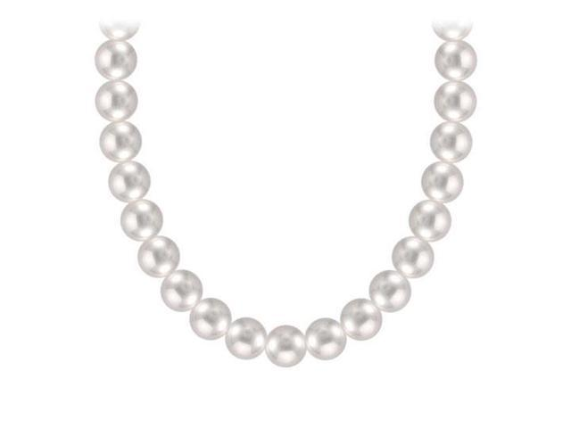 Akoya Cultured Pearl Necklace  14K Yellow Gold  4 MM