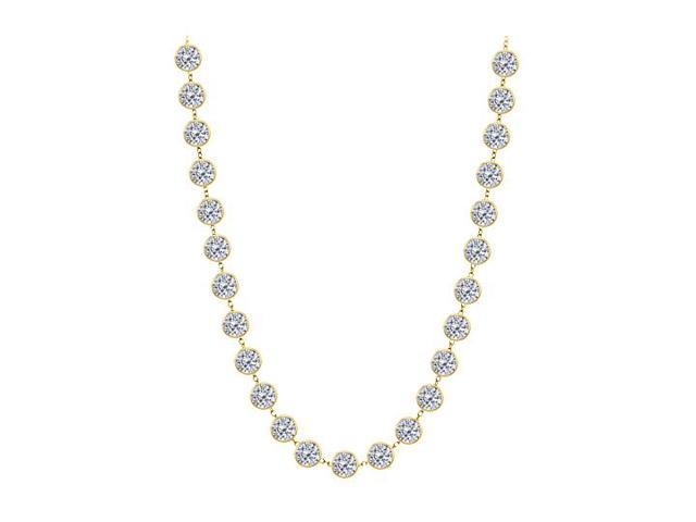 Diamonds By The Yard Necklace in 14K Yellow Gold Bezel Set 7 ct.tw