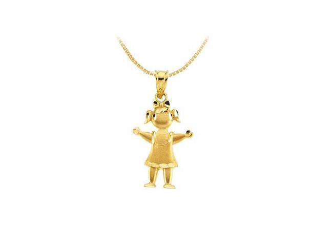 14K Yellow Gold Little Girl Pendant
