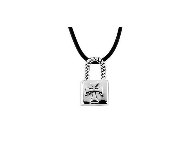 Sterling Silver Purity Lock for The Covenant of Son Pendant 25.00X14.25 MM with 18 Inch Cord
