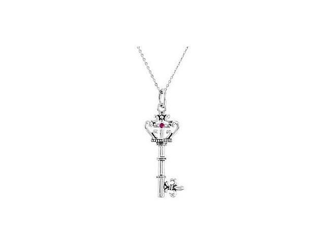 .925 Sterling Silver Key of David Pendant in 42.08X15.69 MM with 18 Inch Chain and Gift Box