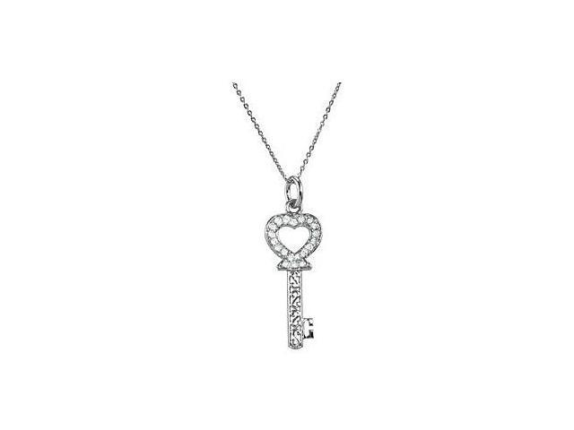 The Key of Love for a Daughter Necklace in .925 Sterling Silver in 40.25X 15.50 MM with 18 Inch