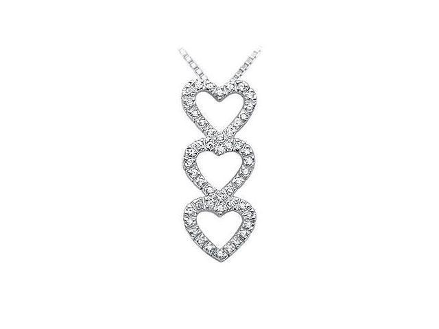 Diamond Heart Pendant  14K White Gold - 0.40 CT Diamonds