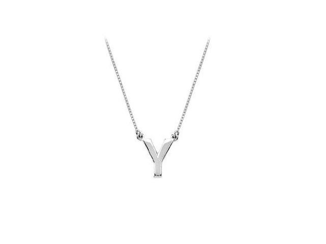 Sterling Silver Baby Charm Y Block Initial Pendant