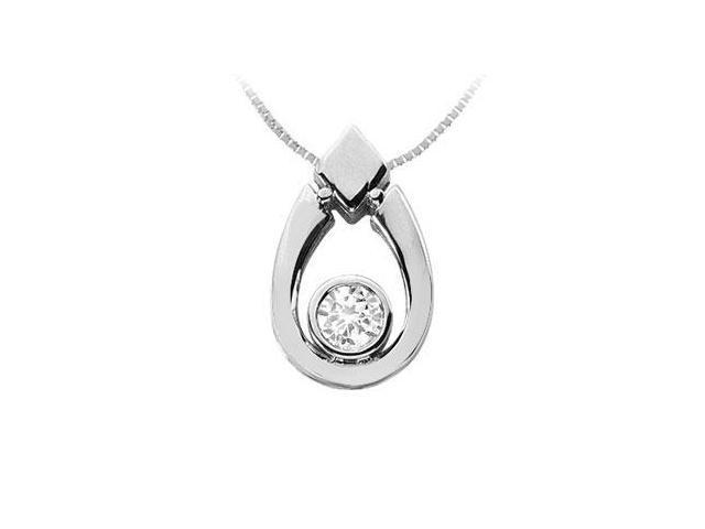 Diamond Pendant  14K White Gold - 0.75 CT Diamonds