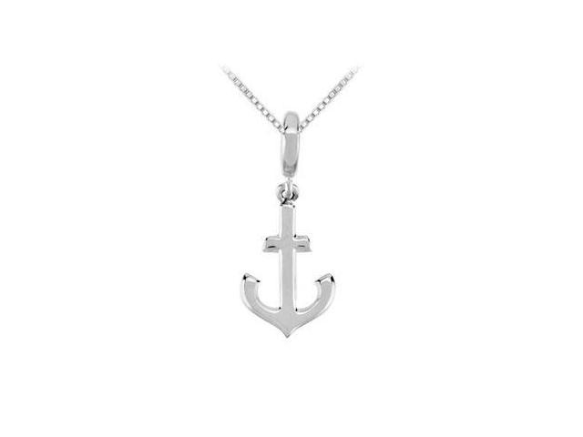 Sterling Silver Petite Anchor Charm Pendant
