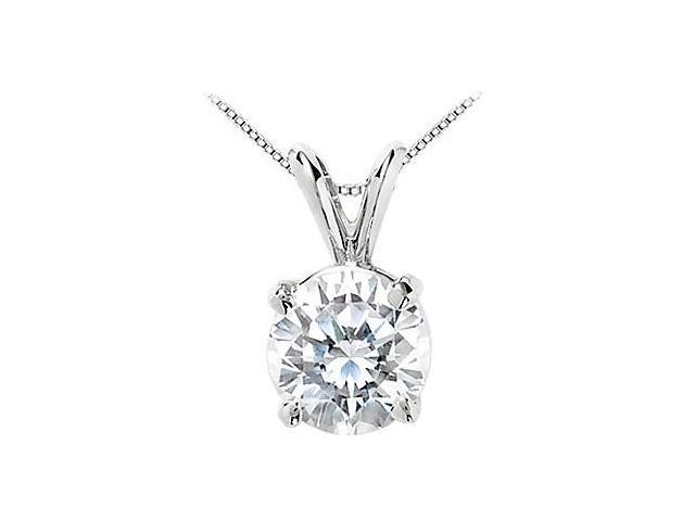 CZ Solitaire Pendant in .925 Sterling Silver 25 Carat Round Brilliant Cut Triple AAAQuality