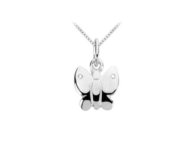 Sterling Silver Charming Animal Butterfly Charm Pendant