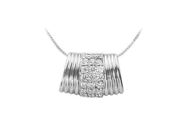Diamond Pendant  14K White Gold - 0.66 CT Diamonds