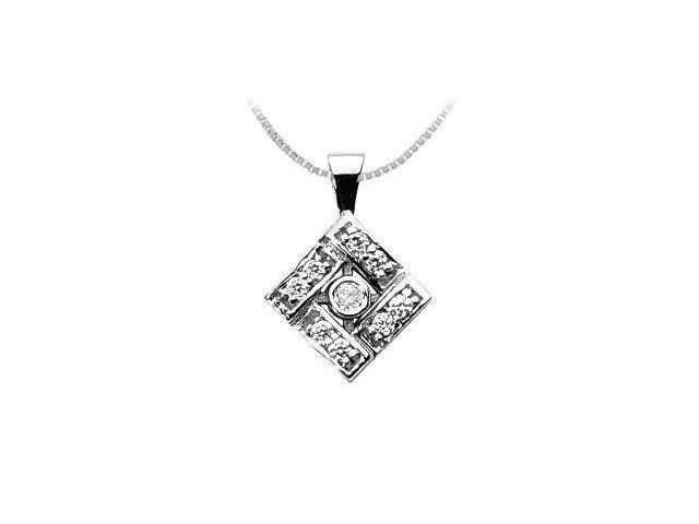 Diamond Pendant  14K White Gold - 0.50 CT Diamonds