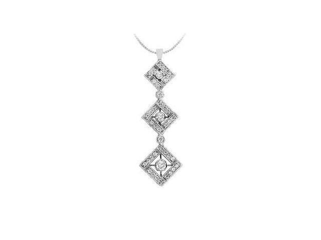 Diamond Drop Pendant  14K White Gold - 0.60 CT Diamonds