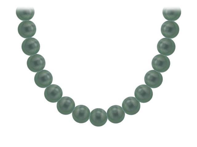 Tahitian Pearl Necklace  18K White Gold  8.00 - 10.00 MM