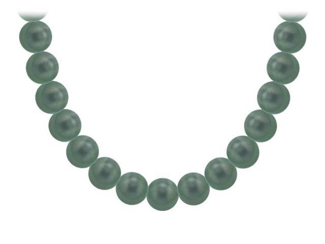 Tahitian Pearl Necklace  18K White Gold  10.00 - 12.00 MM