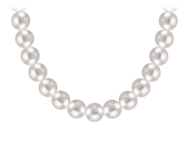 Freshwater Cultured Pearl Necklace  14K Yellow Gold  10.00 - 12.00 MM