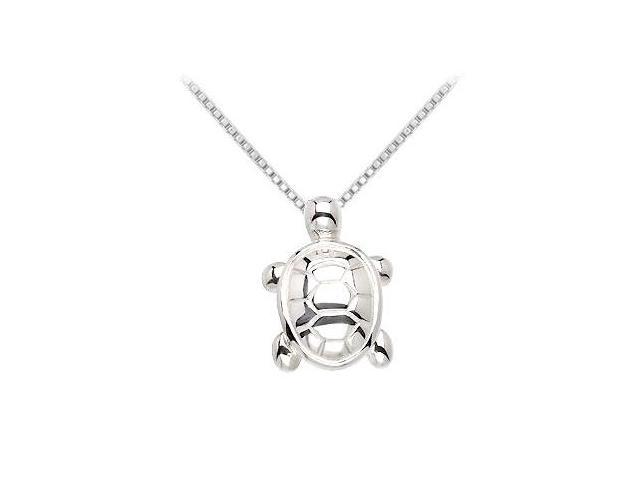 Sterling Silver Animal Turtle Pendant - 19.43X14.52 MM
