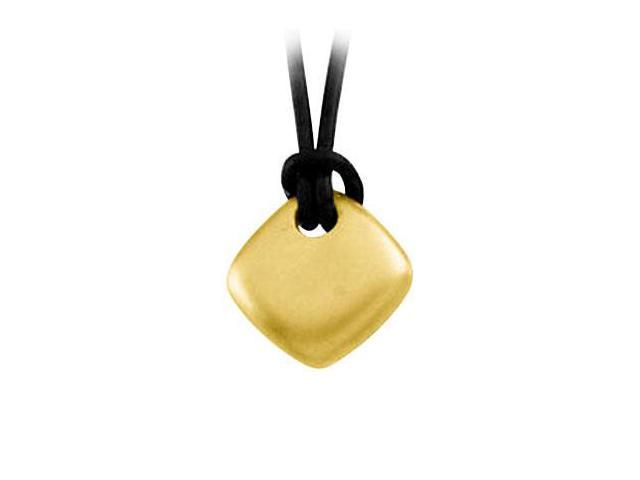 Diamond Shape Pendant in Sterling Silver with 18K Yellow Gold Vermeil Finish