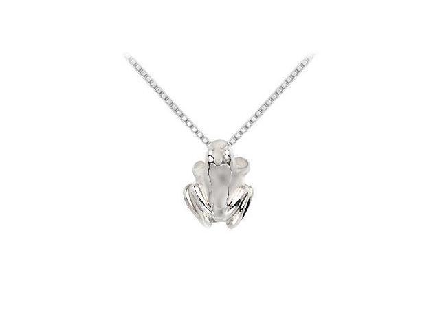 Sterling Silver Frog Pendant - 15.79 X 12.44 MM