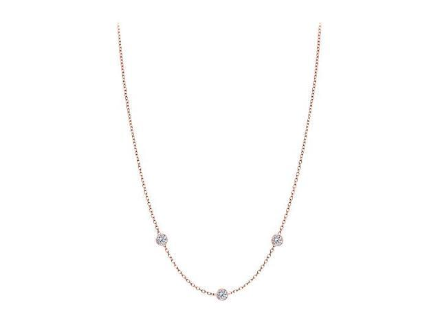 Diamonds By The Yard Necklace in 14kt Rose Gold 0.15 CT Total Diamonds