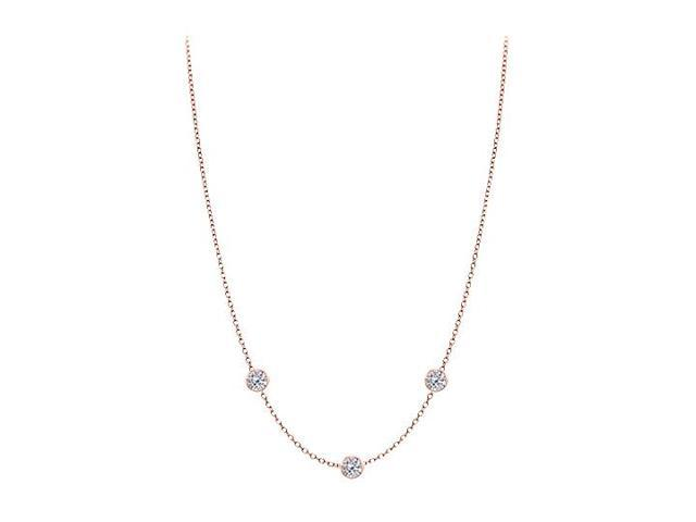 Diamonds By The Yard Necklace in 14kt Rose Gold 0.50 CT Total Diamonds