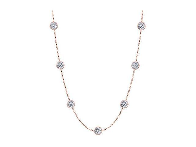 Diamonds By The Yard Necklace in 14kt Rose Gold 3 CT Total Diamonds