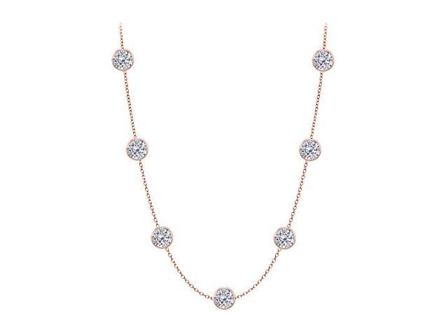 Diamonds By The Yard Necklace in 14kt Rose Gold 5.00 CT Total Diamonds