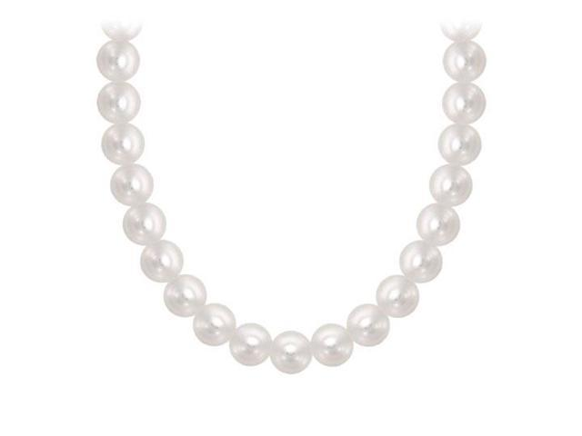 Freshwater Cultured Pearl Necklace  14K Yellow Gold  4 MM