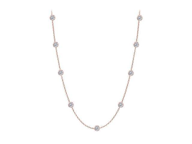 Diamonds By The Yard Necklace in 14kt Rose Gold 0.50 CT Diamonds