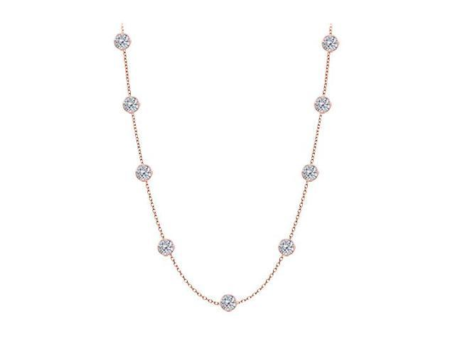 Diamonds By The Yard Necklace in 14kt Rose Gold 2.00 CT Diamonds