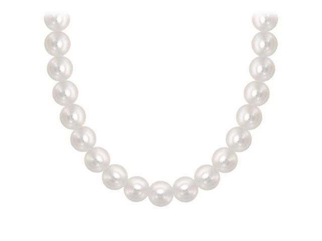 Freshwater Cultured Pearl Necklace  14K Yellow Gold  5 MM
