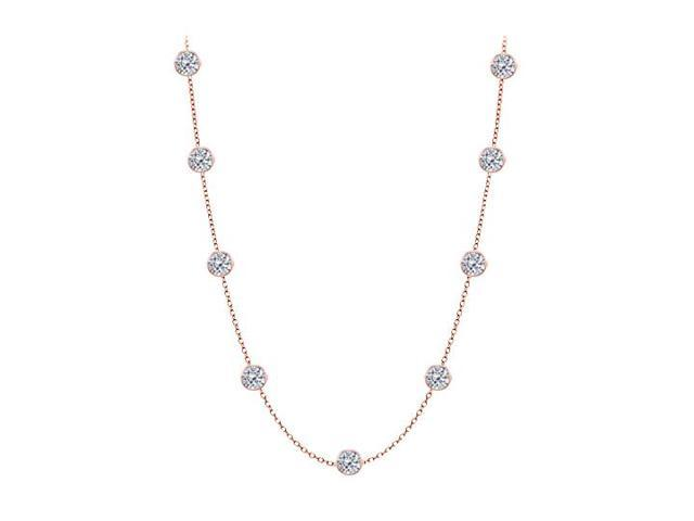 Diamonds By The Yard Necklace in 14kt Rose Gold 3.00 CT Diamonds