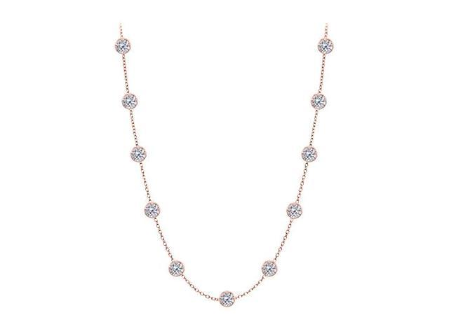 Diamonds By The Yard Necklace in 14kt Rose Gold 1.50 CT Diamonds
