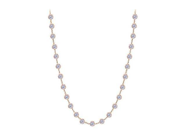 Diamonds By The Yard Necklace in 14kt Rose Gold 1.25 CT Diamonds