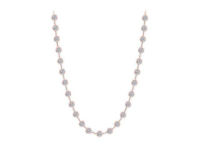 Diamonds By The Yard Necklace in 14kt Rose Gold 2.50 CT Diamonds