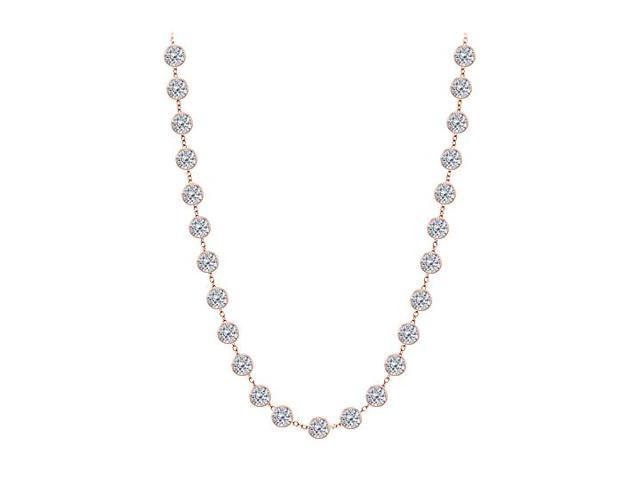 Diamonds By The Yard Necklace in 14kt Rose Gold 4.00 CT Diamonds