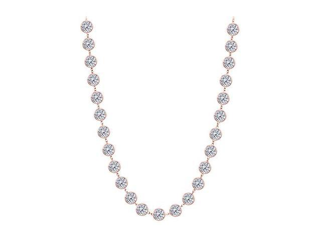 Diamonds By The Yard Necklace in 14kt Rose Gold 7.00 CT Diamonds