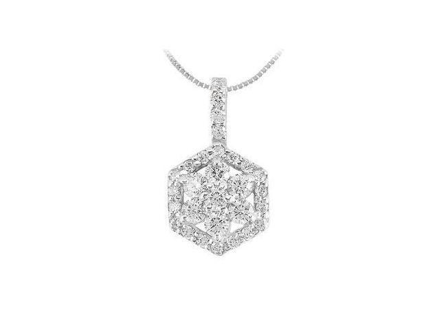 Diamond Pendant  14K White Gold - 0.66 CT Diamonds