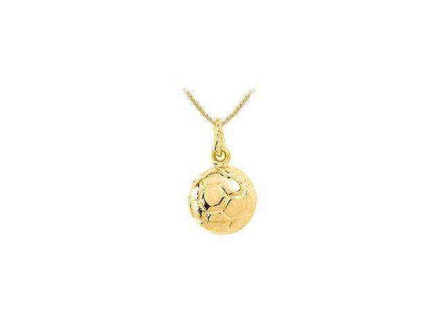 14K Yellow Gold  Soccer Ball Charm Pendant