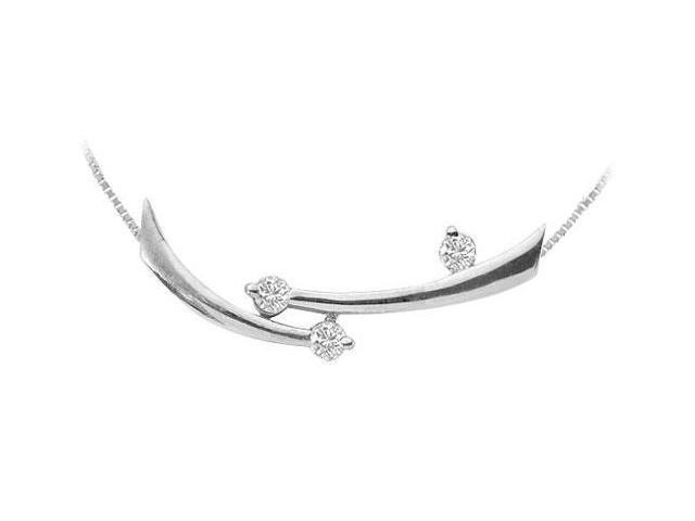 Diamond Pendant  14K White Gold - 0.30 CT Diamonds