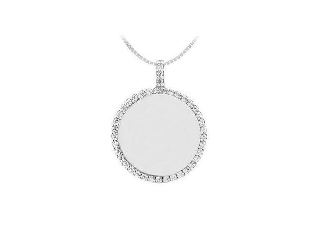 Diamond Disc Pendant  14K White Gold - 0.25 CT Diamonds