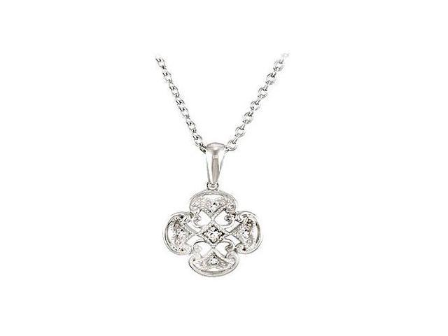 Sterling Silver 0.03 CT TW Diamond 18 Necklace