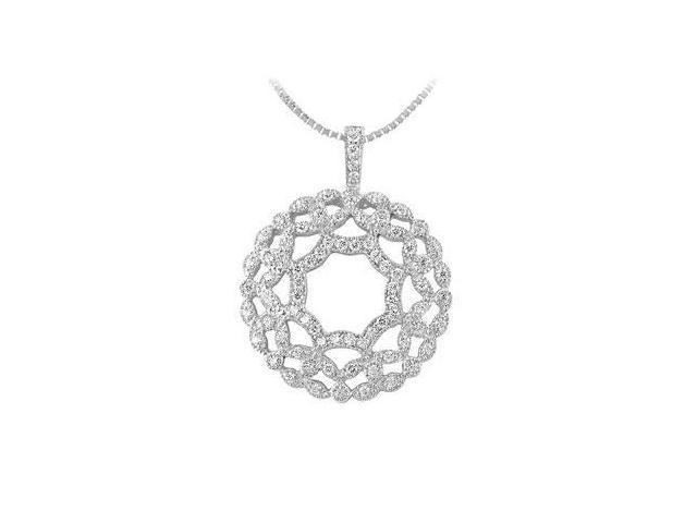 Diamond Floral Pendant  14K White Gold - 0.66 CT Diamonds