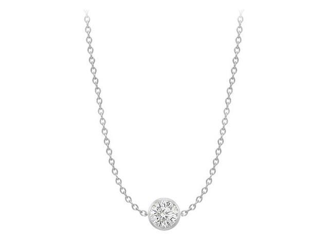 Diamond By The Yard Necklace on a 14K White Gold Bezel Set 1.00 ct.tw