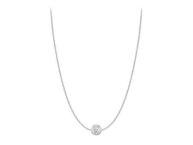Diamond By The Yard Necklace in 18K White Gold Bezel Set 0.33ct.tw